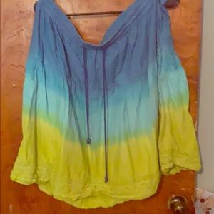 Blue to Green Ombré skirt size 18/20 Lane Bryant
